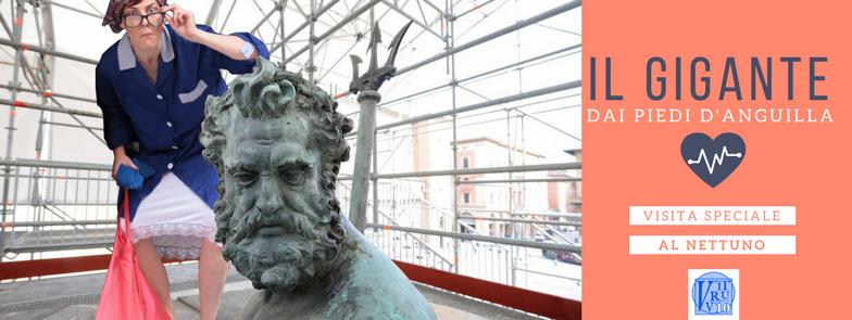 Il Gigante dai Piedi d'anguilla - visita speciale alla Fontana del Nettuno a Bologna con Vitruvio