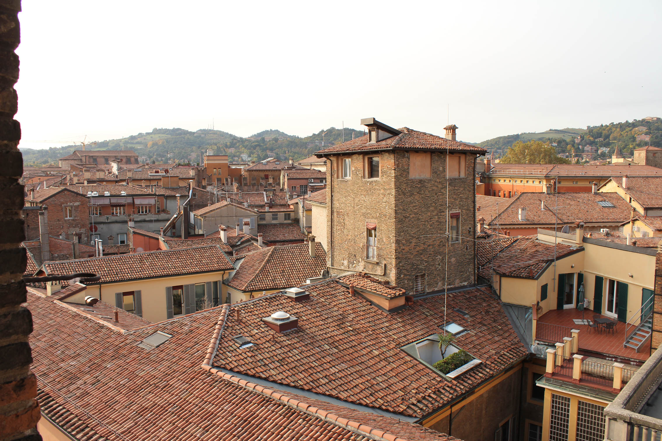 "Bologna from the tower ""Torre delle Perle"""